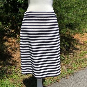 J. Crew No. 2 Striped Pencil Skirt